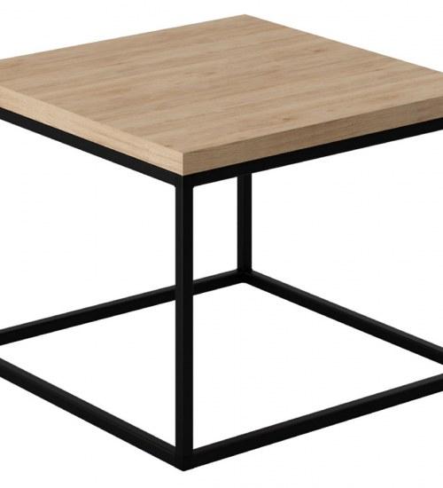 Minimalistyczny kwadrat jako ława do salonu